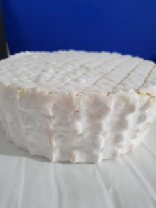 Full wheel of Brie after 5 days of maturing
